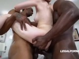 Alex Harper DP One Black One White Two Anal Creampies