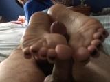 Footjob Black Nails