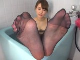 Japanese Pantyhose Footjob 4