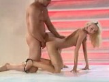 Skinny Tight Blonde Is Curious About This Cock