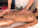 Slim Teen Reveals Beautiful Mound The Masseur Just Can't Ignore