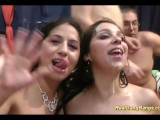 Sweet Teens In Real Gangbang Party