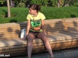 Jeny Smith Flashes In A Park