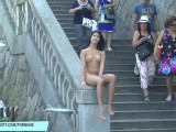Drahomira Shows Her Sexy Naked Body In Public