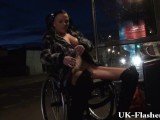 Leah Caprice Flashing Pussy In Public From Her Wheelchair With Handicapped