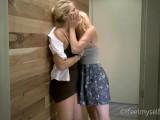 Blonde Got Multiple Orgasm On Public Bathroom
