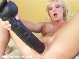 Brutal Dildo Gaping A Blond Teen Pussy