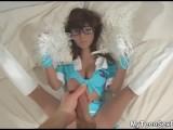 Cheerleader Doll Got Cum On Her Uniform!