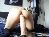 Huge Dildo Too Big For Teen