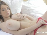 Sweet Teen Busty Buffy Plays With Her Massive Boobies
