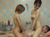 JAPANESE Massage With Two Girls
