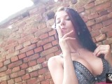 Adrianne Black Smoking