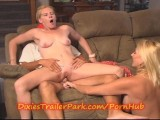 Teen Baby Sitter USED By Husband And MILF WIFE