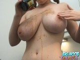British Teen Brooke Gets Her Tits Wet And Sticky