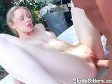 Teen Babysitter Has Sex In The Garden