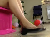 Ballet Flats Shoeplay By A Barefoot Brunette