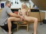 Blonde Cutie Is Playing In The Kitchen