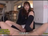Very Cute School Girl In Blazer Uniform Make A Footjob For Her Classmate