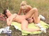 Young Lesbians Playing Outside