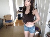 Striptease By The Young And Cute TS Willow Hart At Home