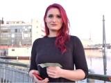 GERMAN SCOUT – Rothaarige Studentin Melina Bei Strassen Casting Gefickt