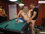AmateurEuro – Hot German Teen Fucked Hard On The Pool Table