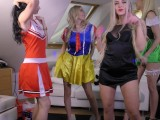 Hot Amateur Teens Costume Party With Rabbit Girl, Cheerleader Big Asses