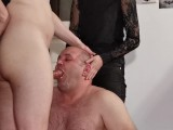 Teen Goth Domina Help Her Dad To Facefuck Slave Pt1 HD