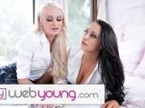 College Teens Emma Hix & Sofi Ryan Study Lesbian Scissoring