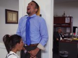 DON'T FUCK MY DAUGHTER – Teen Victoria Valencia Visits Daddy At Work, Takes Dick From His Employee